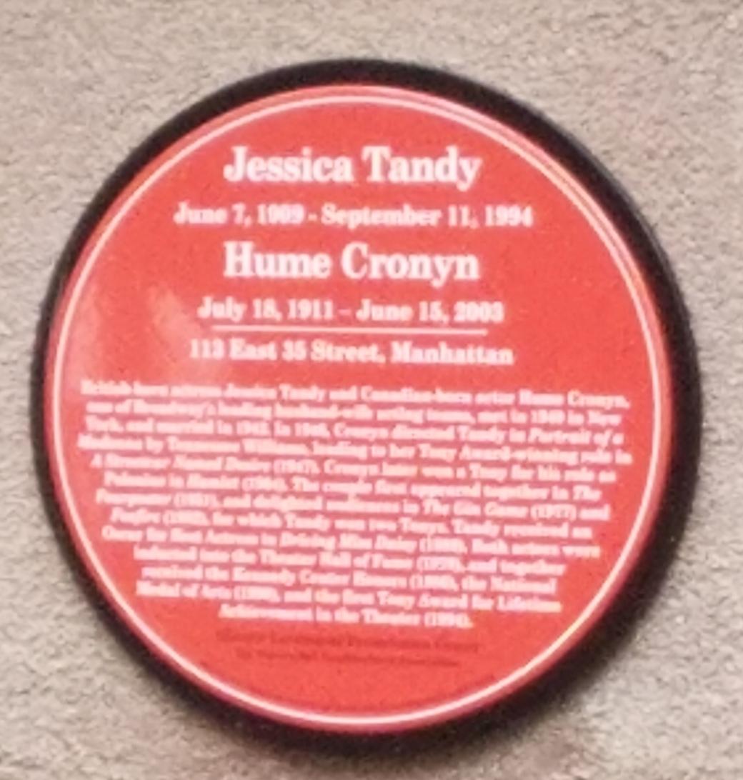 Tandy plaque